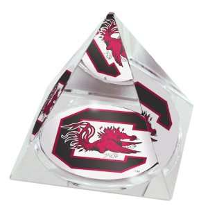 Carolina University Mascot High Quality Crystal Pyramid Sports