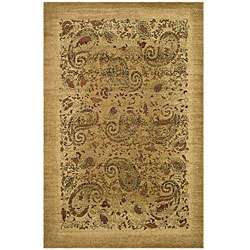 Collection Paisley Beige/ Multi Rug (5 3 x 7 6)