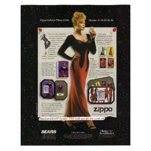 1996 Zippo Lighter ad, Pinup Girls (color) original magazine print ad
