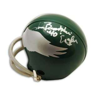Tom Brookshier Autographed Philadelphia Eagles Throwback Mini Helmet