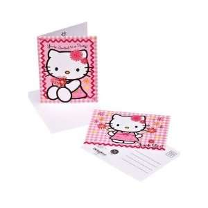 Sanrio Hello Kitty Birthday Invitations & Post Card Thank