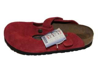 Birkenstock Clogs Womens Boston Soft Footbed Suede Leather Clogs NWOB
