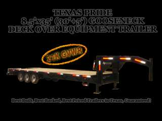x35 (30+5) GOOSENECK DECK OVER EQUIPMENT TRAILER 21,000lb GVWR