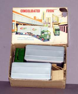 FRICTION TIN TRUCK & DOUBLE VAN TRAILER CONSOLIDATED FREIGHTWAYS BOXED