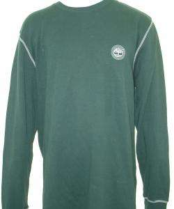 Timberland Mens Green Thermal Crew Shirt
