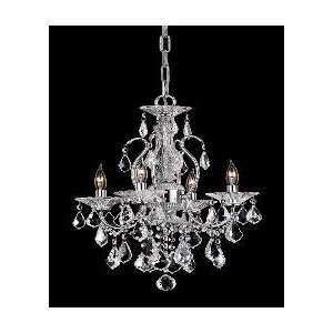 Chrome Lead Crystal Fire & Ice Mini Chandelier 4lt