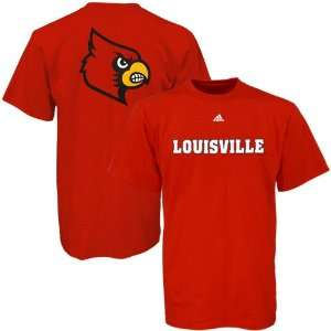 Adidas Louisville Cardinals Red Youth Prime Time T shirt