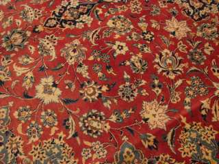 Persian Isfahan Red Aqua Blue Gold beige Rug 9 10x13 11