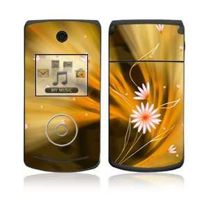 LG Chocolate 3 (VX8560) Skin Decal Sticker   Flame Flowers