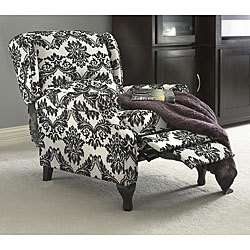 BEAUTIFUL BLACK AND WHITE WING RECLINER CHAIR NEW