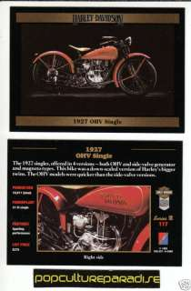 1927 27 HARLEY DAVIDSON OHV SINGLE BIKE MOTORCYCLE CARD