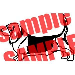 BASSET HOUND DOG PET ANIMAL WHITE VINYL DECAL STICKER
