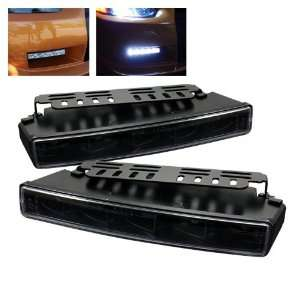 Universal DRL ( Engine Activated ) LED Lights   Black Automotive