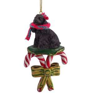 Black Cocker Spaniel Dogs Candy Cane Christmas Ornament