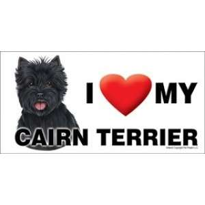 I Love my Cairn Terrier 8x4 Magnet