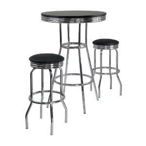 Summit 3 Piece Pub Table Set By Winsome Furniture