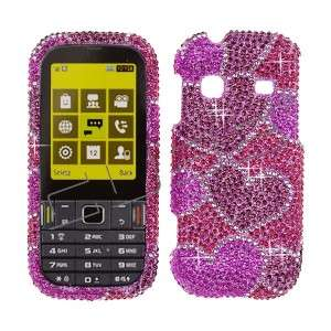 Pink CRYSTAL RHINESTONE DIAMOND BLING COVER CASE 4 Samsung Gravity TXT