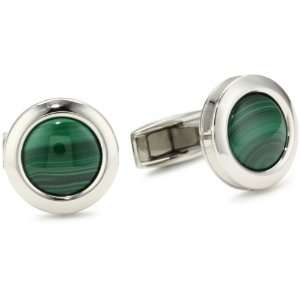 Colibri Jewelry Hampton Polished Stainless Steel Round Deep Green