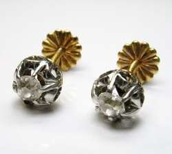ANTIQUE VICTORIAN 18K GOLD DIAMOND EARRINGS