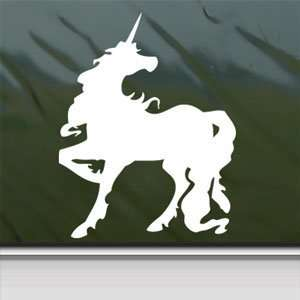 Unicorn Horse White Sticker Car Laptop Vinyl Window White