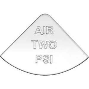 Stainless Steel Air Two PSI Emblem International Truck Automotive