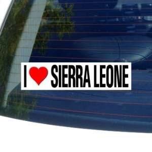 I Love Heart SIERRA LEONE   Window Bumper Sticker