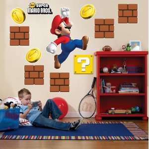Party Destination Super Mario Bros. Giant Wall Decals