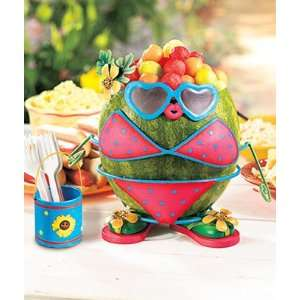 pc Metal Watermelon or Pumpkin Dress up Kit Girl in Bathing Suit and