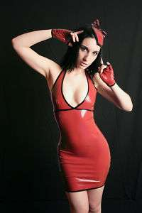 Mademoiselle ilo.Latex Halter neck dress Red Size XS