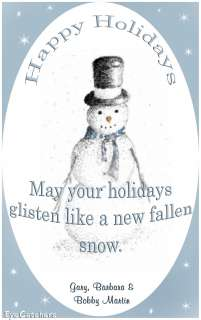 Personalized Christmas Holiday Snowman Greeting Cards