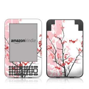 Kindle 3 Skin Cover Case Decal Pink Tree Blossom