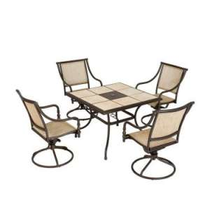 Hampton Bay Andrews 5 Piece Patio Dining Set TO5F2UOQ0056 at The Home