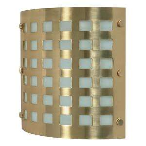 Glomar Green Matters 2 Light Brushed Brass Wall Sconce HD 941 at The