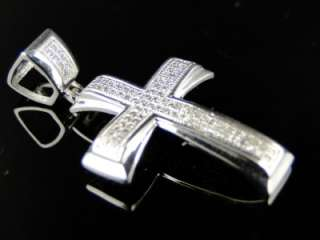 10K MENS LADIES MINI GENUINE DIAMOND CROSS CHARM PENDANT
