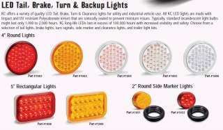 KC HiLites LED Lamp Light   4 Round Tail / Brake Light Clear / Red