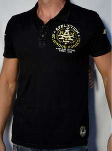 Affliction American Customs HOODLUMS Mens Polo Shirt   NEW   A4818