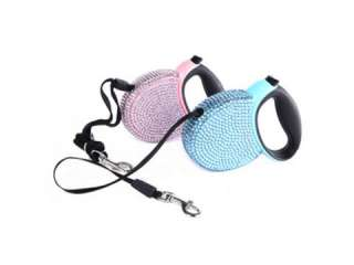 Bling Crystal Retractable Lead Leash 3m 9ft DOG HARNESS For Small Dogs