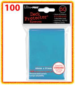 100 Ultra Pro DECK PROTECTOR Standard Size Card Sleeves Light Blue mtg