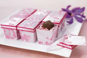 36)Pink Asian Brocade Favor Boxes Wedding Cherry Blossom Bridal Shower