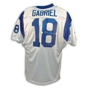 Roman Gabriel Autographed Los Angeles Rams Throwback