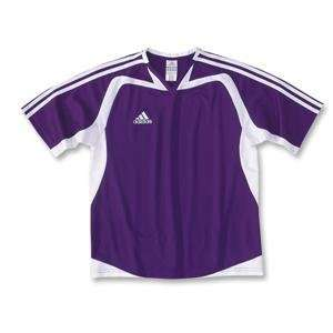 adidas Womens Cosmos Soccer Jersey (Purple) Sports