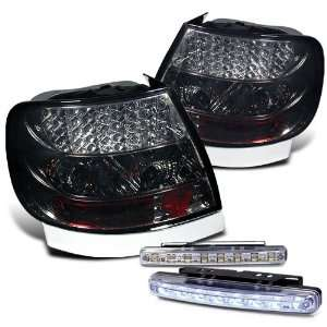 96 01 Audi A4 S4 LED Tail Lights + LED Bumper Fog Lights Brand New