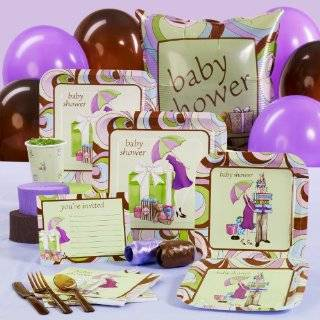 Sweet Pea Baby Shower Standard Party Pack for 8 guests