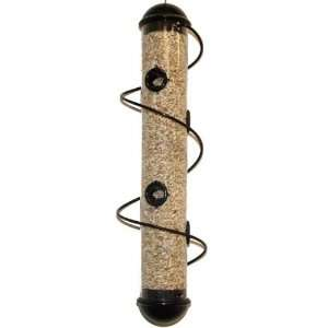 Bird Quest 17 Black Elegant Spiral Seed Feeder Patio