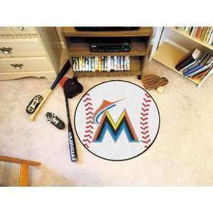 Miami Marlins MLB Baseball Round Floor Mat (29)