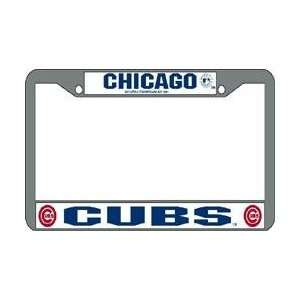 Chicago Cubs MLB Chrome License Plate Frame