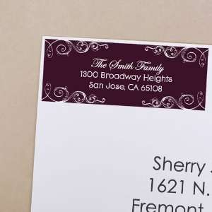 30 Personalized Christmas Return Address Labels