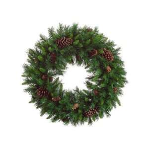 30 American Pine Artificial Christmas Wreath with Pine