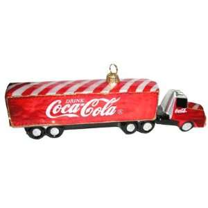 Coca Cola 18 Wheel Truck Polonaise Christmas Ornament