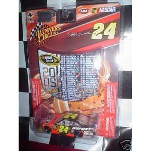 64 Scale with 2009 NASCAR Sprint Scedule Hood Magnet Winners Circle